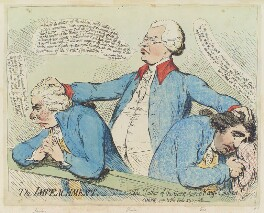 'The impeachment, - or - 'the father of the gang, turnd Kings evidence'', by James Gillray, published by  Samuel William Fores, published May 1791 - NPG  - © National Portrait Gallery, London