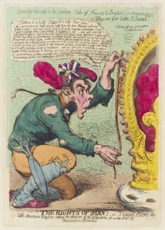 Thomas Paine, by James Gillray, published by  Hannah Humphrey - NPG D12420