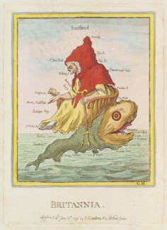 'Britannia', probably by James Gillray, published by  Hannah Humphrey - NPG D12421