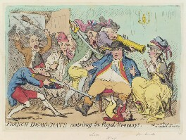 'French democrats surprising the royal runaways', by James Gillray, published by  Hannah Humphrey, published 27 June 1791 - NPG  - © National Portrait Gallery, London