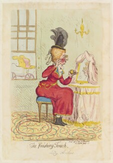 Sarah Archer (née West), Lady Archer ('The finishing touch'), by James Gillray, published by  Hannah Humphrey, published 29 September 1791 - NPG D12424 - © National Portrait Gallery, London