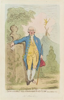 'A uniform whig' (King George III; Edmund Burke), by James Gillray, published by  Hannah Humphrey, published 16 November 1791 - NPG  - © National Portrait Gallery, London