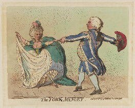 'The York-minuet', by James Gillray, published by  Hannah Humphrey, published 14 December 1791 - NPG D12434 - © National Portrait Gallery, London