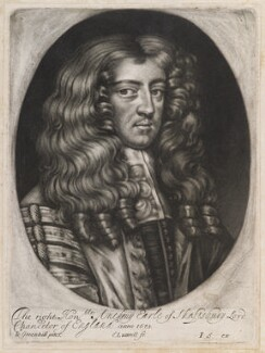 Anthony Ashley-Cooper, 1st Earl of Shaftesbury, by Edward Lutterell (Luttrell), published by  John Smith, after  John Greenhill - NPG D11961