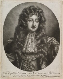 Laurence Hyde, 1st Earl of Rochester, by Robert Williams, published by  Edward Cooper, after  Willem Wissing - NPG D11962