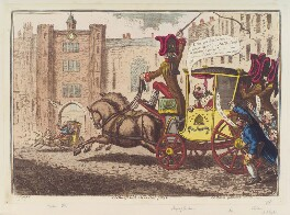 'Malagrida, driving post', by James Gillray, published by  Hannah Humphrey - NPG D12441