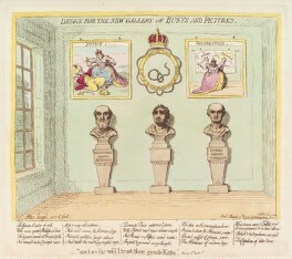 Charles James Fox ('Design for the new gallery of busts and pictures'), by James Gillray, published by  Hannah Humphrey - NPG D12443