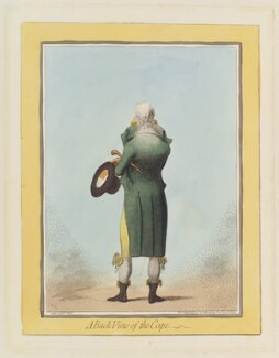 'A back view of the cape', by James Gillray, published by  Hannah Humphrey - NPG D12444