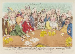 'Modern hospitality, - or - a friendly party in high life', by James Gillray, published by  Hannah Humphrey - NPG D12447
