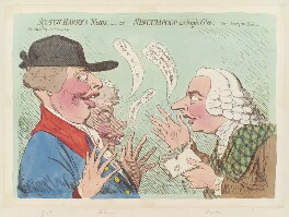 'Scotch Harry's news; - or - nincumpoop in high glee', by James Gillray, published by  James Aitken, published 23 May 1792 - NPG  - © National Portrait Gallery, London