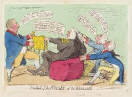 'The fall of the Wolsey of the woolsack', by James Gillray, published by  Hannah Humphrey - NPG D12457