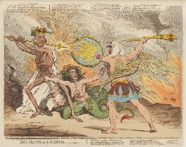 'Sin, Death, and the Devil', by James Gillray, published by  Hannah Humphrey - NPG D12458