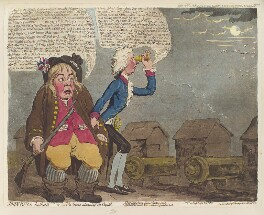 William Pitt ('John Bull bother'd; - or - the geese alarming the capitol'), by James Gillray, published by  Hannah Humphrey - NPG D12465
