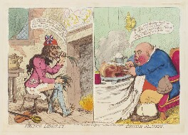 'French liberty British slavery', by James Gillray, published by  Hannah Humphrey, published 21 December 1792 - NPG  - © National Portrait Gallery, London
