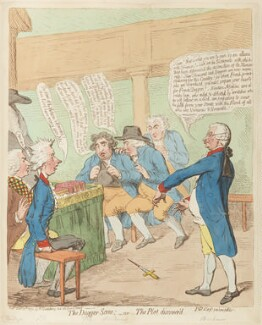 'The dagger scene; - or - the plot discover'd', by James Gillray, published by  Hannah Humphrey, published 30 December 1792 - NPG D12467 - © National Portrait Gallery, London