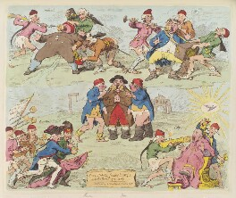 'Sans-culottes, feeding Europe with the bread of liberty', by James Gillray, published by  Hannah Humphrey, published 12 January 1793 - NPG  - © National Portrait Gallery, London