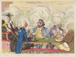 'A smoking club', by James Gillray, published by  Hannah Humphrey - NPG D12470