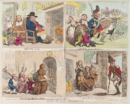'John Bull's progress', by James Gillray, published by  Hannah Humphrey, published 3 June 1793 - NPG  - © National Portrait Gallery, London