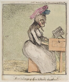 'Here's songs of love and maids forsaken', probably by James Gillray, published by  Hannah Humphrey, published 30 March 1793 - NPG  - © National Portrait Gallery, London