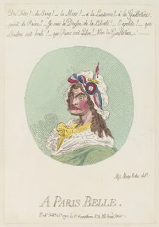 'A Paris belle', by James Gillray, published by  Hannah Humphrey, published 29 February 1794 - NPG  - © National Portrait Gallery, London
