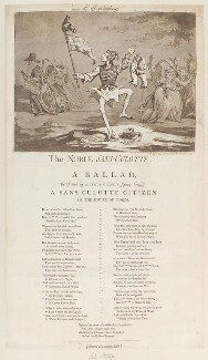 'The noble sans-culotte', by James Gillray, published by  Hannah Humphrey - NPG D12487