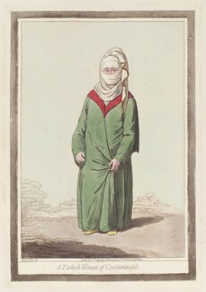 'A Turkish woman of Constantinople', by James Gillray, published by  Hannah Humphrey, published 1 November 1794 - NPG  - © National Portrait Gallery, London