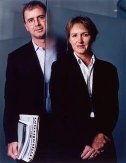 Phil Georgiadis; Christine Walker, by Jillian Edelstein - NPG x125412