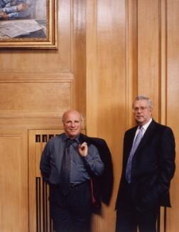 Greg Dyke; Gavyn Davies, by Tom Miller - NPG x125421