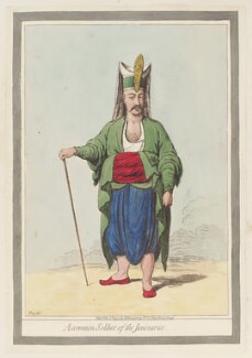 'A common soldier of the Janizaries', by James Gillray, published by  Hannah Humphrey, published 1 November 1794 - NPG  - © National Portrait Gallery, London