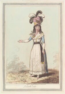 'A Greek lady', by James Gillray, published by  Hannah Humphrey, published 1 November 1794 - NPG  - © National Portrait Gallery, London
