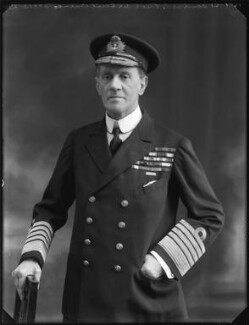 Sir Cecil Burney, 1st Bt, by Bassano Ltd - NPG x120776