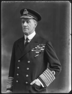 Sir Cecil Burney, 1st Bt, by Bassano Ltd - NPG x120777