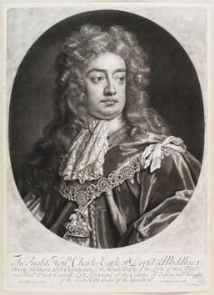 Charles Sackville, 6th Earl of Dorset, by and published by John Smith, after  Sir Godfrey Kneller, Bt - NPG D11651