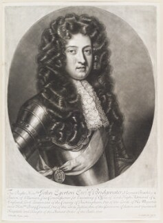 John Egerton, 3rd Earl of Bridgewater, by and published by John Smith, after  Sir Godfrey Kneller, Bt - NPG D11655