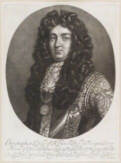 Christopher Monck, 2nd Duke of Albemarle, by Isaac Beckett, published by  John Smith, after  Thomas Murray - NPG D11660