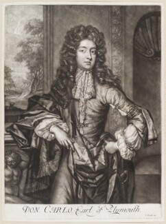 Charles FitzCharles, Earl of Plymouth, published by John Smith, circa 1689 - NPG D11661 - © National Portrait Gallery, London