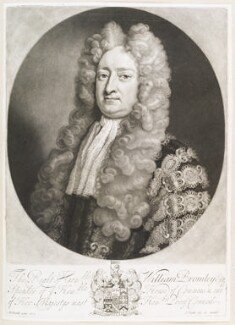 William Bromley, by and published by John Smith, after  Michael Dahl - NPG D11662