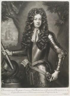 Thomas Herbert, 8th Earl of Pembroke, by John Smith, after  Willem Wissing, 1708 - NPG D11664 - © National Portrait Gallery, London