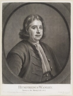 Humphrey Wanley, by and published by John Smith, after  Thomas Hill - NPG D11665