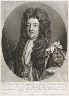Sidney Godolphin, 1st Earl of Godolphin, by and sold by John Smith, after  Sir Godfrey Kneller, Bt, 1707 (circa 1704-1710) - NPG D11670 - © National Portrait Gallery, London