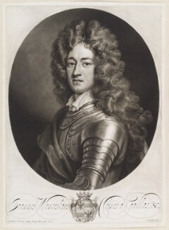 John Wenceslaus, Count Gallas, by John Smith, after  Sir Godfrey Kneller, Bt - NPG D11671