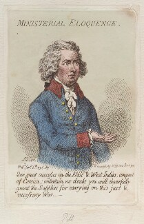 'Ministerial eloquence', by James Gillray, published by  Hannah Humphrey - NPG D12507