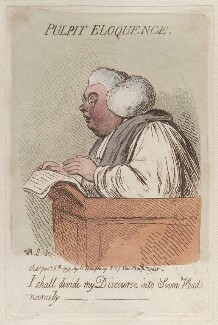 'Pulpit eloquence', by James Gillray, published by  Hannah Humphrey - NPG D12508