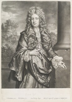 Thomas Shadwell, by William Faithorne Jr, published by  Edward Cooper, after  Johann Kerseboom - NPG D11674
