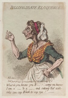 'Billingsgate eloquence', by James Gillray, published by  Hannah Humphrey - NPG D12513