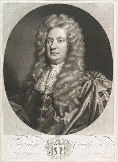 Thomas Coulson, by John Smith, after  Sir Godfrey Kneller, Bt, 1714 (1688) - NPG D11678 - © National Portrait Gallery, London