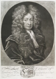 Sir Robert Cotton, 1st Bt, by John Smith, after  Thomas Gibson - NPG D11682