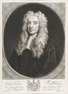 William Fellowes, by John Smith, after  John Vanderbank, 1723 - NPG  - © National Portrait Gallery, London