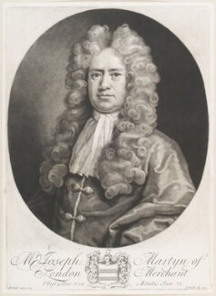 Joseph Martyn, by John Smith, after  Michael Dahl, 1719 (1705) - NPG D11689 - © National Portrait Gallery, London