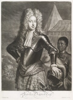 Sir Charles Napier, 2nd Bt, by and published by John Smith, after  J. Sommer, 1700 - NPG D11694 - © National Portrait Gallery, London